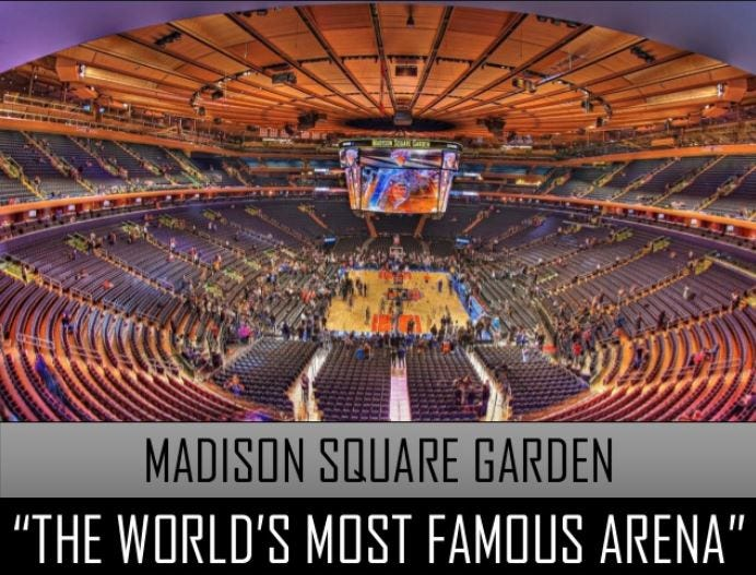Of All The Overrated Things In This Universe I Think Iu0027ve Decided That Madison  Square Garden Is Probably The Most Overrated Of The Overrated.