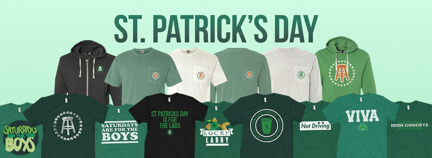 here are our official st paddyu0027s day drinking shirts pure fire flames across the board you might be asking yourself did el pres do it again